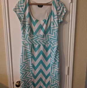 Chevron Bebe Midi Dress